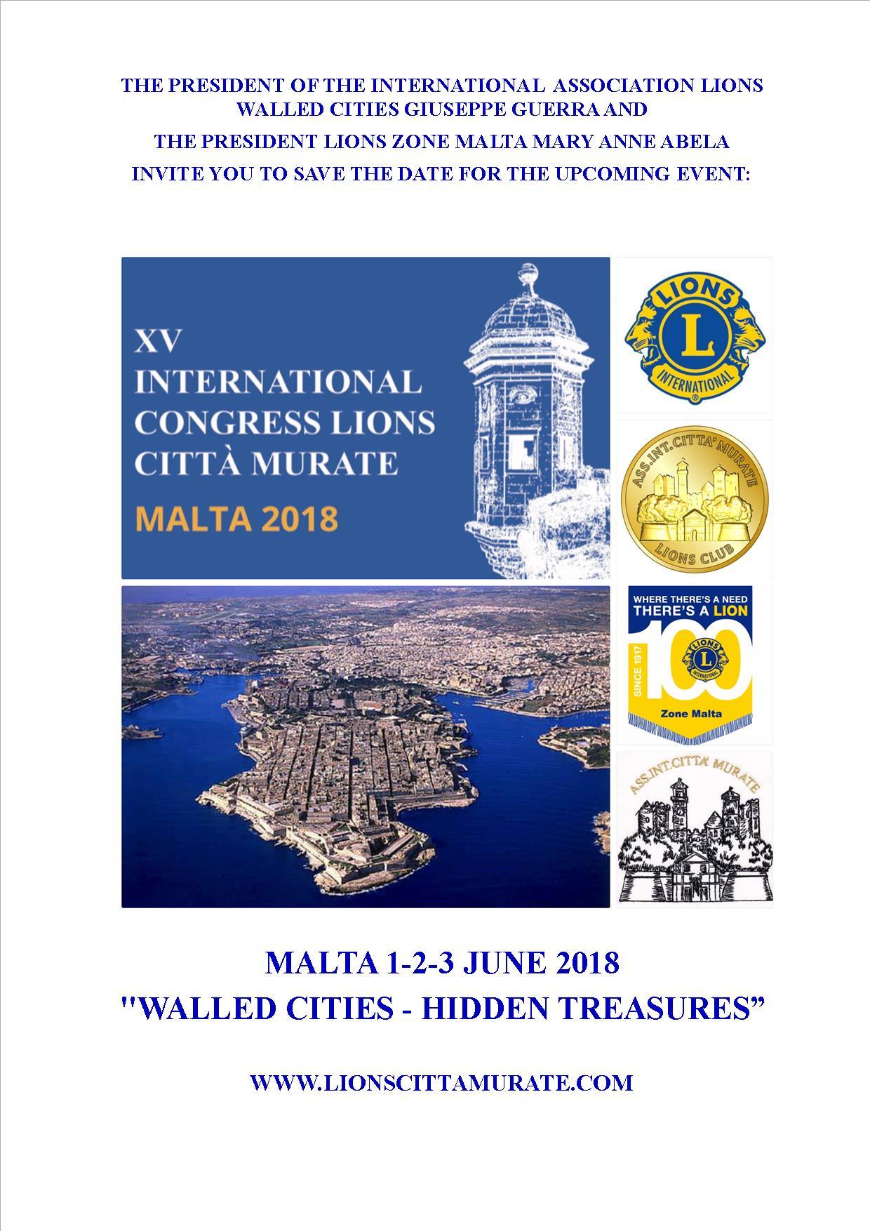 Locandina XV Congresso Malta - Salva data_en