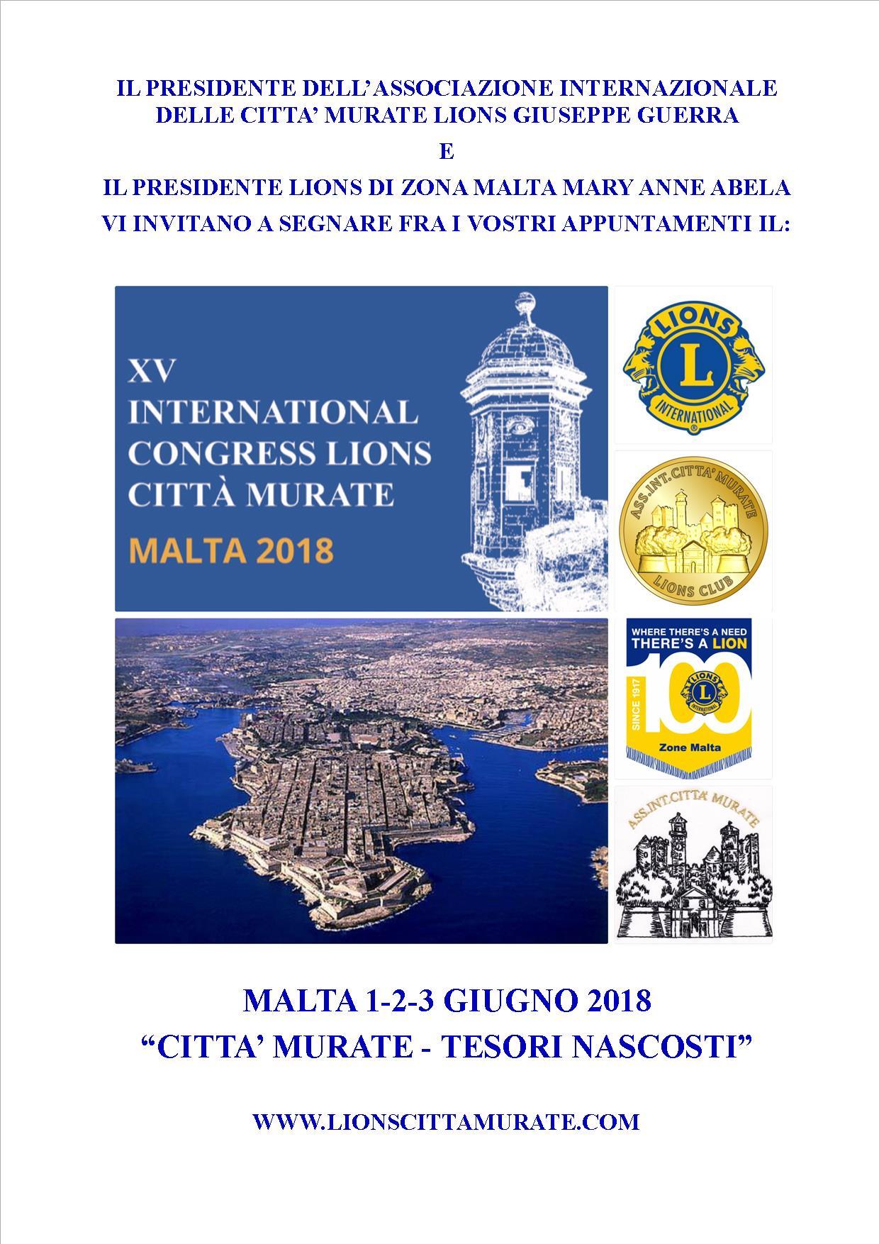 Locandina XV Congresso Malta - Salva data_it